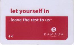 BULGARIA   KEY HOTEL  Ramada Sofia - Let Yourself In - Hotel Keycards