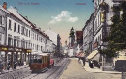 Linz * Landstrasse, Tram, Geschäfte * Österreich * AK1565 - Linz