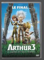DVD  Arthur 3  La Guerre Des Deux Mondes - Dessin Animé