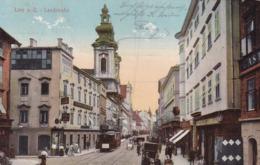 Linz * Landstrasse, Tram, Autos, Geschäfte * Österreich * AK1566 - Linz