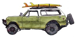 @@@ MAGNET - Surf Car - Advertising