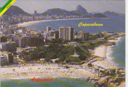 83236- RIO DE JANEIRO- COPACABANA BEACH, PARTIAL TOWN PANORAMA - Copacabana