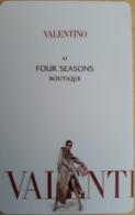 CIPRO   KEY HOTEL  Valentino At Four Seasons Boutique - Hotelkarten