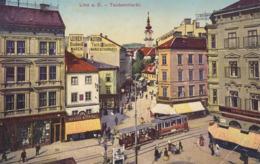 Linz * Taubenmarkt, Tram, Geschäfte * Österreich * AK1567 - Linz