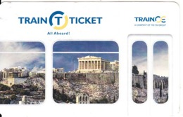 GREECE - Monuments, TrainOSE Ticketcard, Used - Other Collections