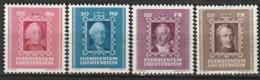 Liechtenstein N° 182 - 185 * - Nuovi