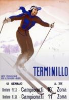 @@@ MAGNET - Terminillo, Woman Skiing - Advertising