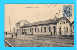 CPA LICHTERVELDE : Statie - Circulée En 1924 - Edit S.V.L. - 2 Scans - Lichtervelde