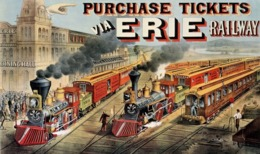 @@@ MAGNET - The American Railway Scene At Hornellsville, Erie Railway - Advertising