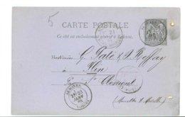 88 -- CARTE COMMERCIALE - PATE REFFAY à FLIN - Tampon De SENONES Quincaillerie CAILLARD (Année 1885) - Senones