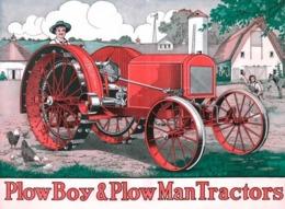 @@@ MAGNET - Tractor, Plow Boy & Plow Man Tractors - Advertising