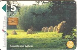LATVIA - Summer Landscape, Tirage 50000, Exp.date 08/00, Used - Landschaften