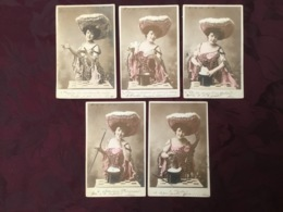 SERIE DE 5 CARTES POSTALES  FEMME. PRESTIDIGITATRICE.  /109/ - Mujeres