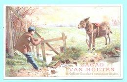 Chromo Grand Format, Victorian Trade Card. Cacao VAN HOUTEN. Scène Champenoise. Litho CHAMPENOIS, Non Classée - Van Houten