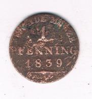 1 PFENNING 1839 A PRUISEN DUITSLAND /8109/ - [ 1] …-1871 : German States