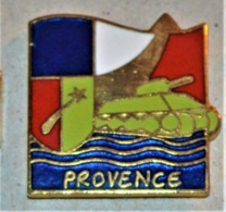 Rare Pin's Débarquement De Provence - 1939-45