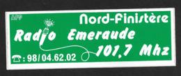 Radio Emeraude Nord Finistère Bretagne - Sticker Adhésif Autocollant - Pegatinas