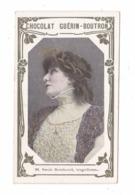 Chromo Chocolat Guérin-Boutron N° 98, Sarah Bernhardt, Tragédienne, Art Nouveau - Guérin-Boutron