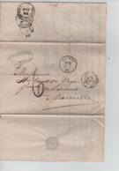 PR7505/ LAC/BMI C.Anvers 1863 C. Vandenwouwer Port 6 > Marseille Divers Cachets Dont Ambulants - Postmark Collection