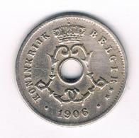 5 CENT 1906 VL BELGIE /8119/ - 1865-1909: Leopold II