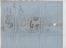 PR7506/ LAC/BMI C.Liège 6/Mai/1858 Port 6 > Beaune Divers Cachets Dont Ambulants & C.d'arrivée - Postmark Collection