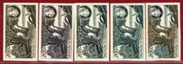 Monaco 1949 #C40, Color Proof X5, Dr. Albert Schweitzer & Ogowe River, Bird - Nuevos