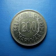 Finland 200 Markkaa 1957 Silver - Finlande