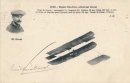 """Aviateur M. DUVAL - Signature AUTOGRAPHE Sur CP """" Biplan Caudron Piloté Par Duval """" Pionnier Aviation - Aviateurs"""