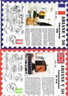 ARIANE V50 - Inmarsat II F4 Et Telecom 2B  (  2 Encarts  Du 15-04-1992) - FDC & Commemorrativi
