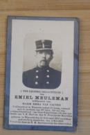 Wanzele Lede Doodsprentje Foto Veldwachter Politie Meuleman + 1919 - Religion & Esotérisme
