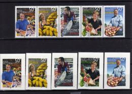 AUSTRALIE Australia 2007 Fruits Poisson Fish LES 2 SERIES MNH ** - Mint Stamps