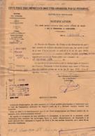 Notification De Pension Pour Soldat Blessé / Classe 1914 / Amputation Cuisse Droite - 1914-18