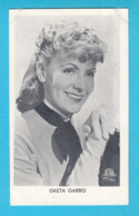 RRRRRR ..... GRETA GARBO ..... 1930's Yugoslavian Kingdom Original Vintage Mirim Chocolate Card * Sweden Actress - Cinema & Film