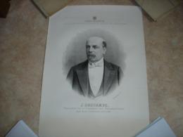A VOIR !! GRANDE LITHO - DESCAMPS DEPUTE ARRONDISSEMENT DE ATH 1866 ( PRESIDENT DE LA CHAMBRE ) - Lithographies