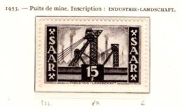 Ex Colonie Française  * Sarre *   Poste : 322  N** - 1947-56 Occupation Alliée