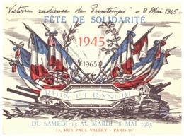 """LA MARECHALE DE LATTRE ET LES SOLDATS DE LA 1ere ARMEE INVITENT ....FETE DE LA SOLIDARITE """"RHIN ET DANUBE"""" 15 Mai 1965 - Documents"""