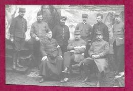 PHOTO 13 X 9 Cm ..MILITAIRES POILU 1914-18 ..OFFICIERS MEDECINS, PRETRE AUMONIER - Krieg, Militär