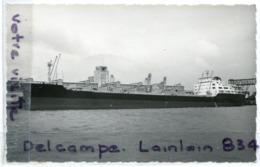 - Carte Photo Le LENS - Pétrolier Minéralier, Lancé à La Seyne Sur Mer En 1959, Non écrite, Glacée, TTBE, Scans..lacée, - Dampfer