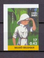 3048 TINTIN/KUIFJE  ONGETAND POSTFRIS** 2001 - Bélgica