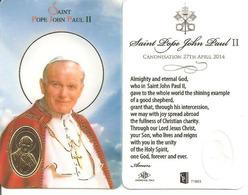 Carte Du Pape Jean-Paul II Avec Médaille - Personaggi