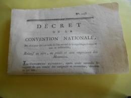 Decret    Convention / / Poids Et Empreinte De Monnaies  Et Autres - Decreti & Leggi