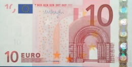 10 EURO ALEMANIA(X) E007 DRAGHI, Diseño 2002, Uncirculated - EURO
