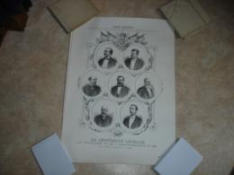 A VOIR !! GRANDE LITHO - DEPUTATION LIBERALE DU TOURNAISIS ET ARRONDISSEMENT DE ATH ( 1887 - PORTRAITS ) - Lithographies
