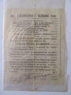 Papier Dépliant Publicitaire Cigarette Ed. Laurens - Alexandrie, Le Caire - Publicités