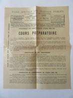 Vieux Papier Publicitaire De L'Ecole Spéciale Des Travaux Publics Pour L'enseignement Par Correspondance - Vers 1920 - Publicités