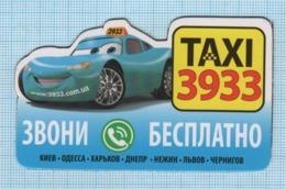 UKRAINE / Flexible Magnet / Advertising. Taxi Service 3933. Car. Transport. - Transport