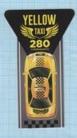 UKRAINE / Flexible Magnet / Advertising. Taxi Service YELLOW . Car. Transport. - Transport