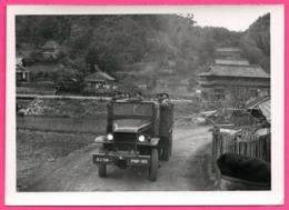 Photo WW2 - Armée Belge Corée - Militaire - Camion Conduisant Les Volontaires Vers Le Port De SASEBO Au JAPON - Jeep - War, Military