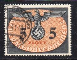 Y1773 - GENERAL GOUVERNEMENT GERMANIA 1940 , Servizio Unificato N. 24  Usato  (2380A) - Occupazione 1938 – 45