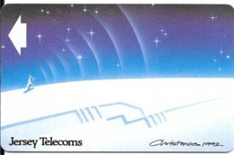 CARTE-MAGNETIQUE-GB-JERSEY-40U-NOEL 1992-BE- - Natale